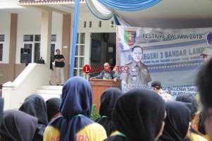 1.275 Pelajar se-Lampung Ramaikan Festival Palapa