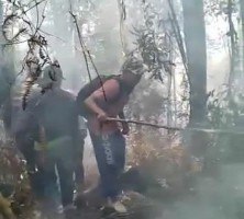 10 Hektare Lahan di Gunung Abung Terbakar