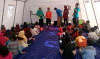 110 Anak Pengungsi Tsunami Belajar di Tenda Darurat