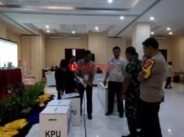 154 Aparat Gabungan Amankan Pleno Rekapitulasi KPU Pringsewu