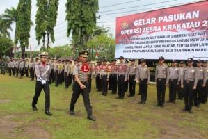 Polres Way Kanan Gelar Apel Pasukan Operasi Zebra Krakatau 2018