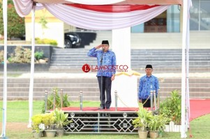 Wakil Bupati Pesawaran Pimpin Upacara HUT Ke-47 Korpri