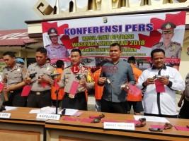 Operasi Waspada Krakatau 2018, Polres Lamsel Amankan 12 Senjata Api