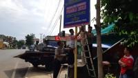 Wujudkan Pemilu Damai, Polres Lampung Utara Pasang Baliho Imbauan Kamtibmas