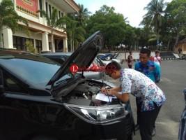 Tim BPK Lakukan Pemeriksaan Kendaraan Dinas Pemkab Lamsel