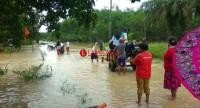 Aliran Sungai Meluap, Permukiman dan Lahan Pertanian di Tubaba Terendam Banjir