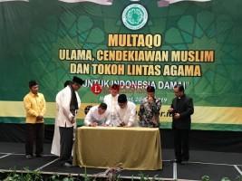 Ulama, Cendikiawan dan Tokoh Lintas Agama Serukan Indonesia Damai