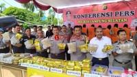 Gagalkan Penyelundupan Sabu 65 Kg dan Ganja 33 Kg, Kapolda Lampung Apresiasi Polres Lamsel