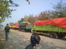 Tujuh Truk Batu Bara Ilegal Ditangkap di Bakauheni