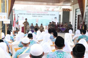 190 Jemah Calon Haji Kloter 54 Way Kanan Diberangkatkan Hari Ini