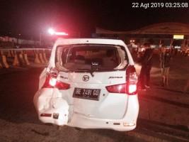 3 Mobil Tabrakan Beruntun di Pintu Masuk Pelabuhan Bakauheni