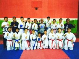 33 Atlit BKC Lampung Ikuti Kejurnas Karate di Batam