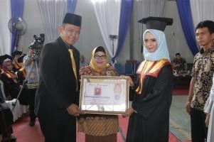 352 Mahasiswa STMIK dan STIT Pringsewu Ikuti Prosesi Wisuda