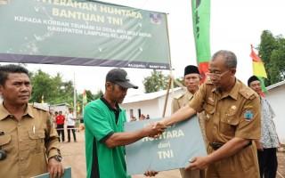 40 Hunian Sementara Diserahkan ke Masyarakat Terdampak Tsunami
