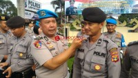 Melanggar, 5 Anggota Polres Lambar Kena Sanksi Fisikdan Cukur Jenggot