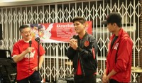 Aga dan Gamma Thohir Ramaikan Kampanye Jokowi di Los Angeles