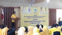 Airlangga Hartarto Konsolidasi Menangkan Golkar dan Jokowi-Amin di Lampung