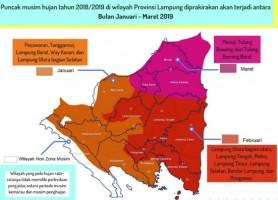 Akhir Oktober, Lampung Diprediksi Masuk Musim Penghujan