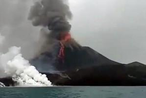 Aktivitas Gunung Anak Krakatau Masih Aman Dalam Radius 2 Km