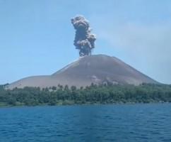 Aktivitas Letusan Meningkat, Gunung Anak Krakatau Bertambah Tinggi