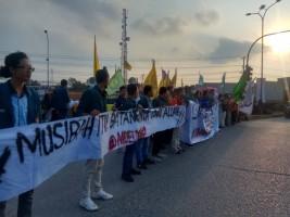 Aliansi Mahasiswa Lampung Gelar Aksi Melawan Asap