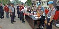 Anggota Polres Lampung Utara Menjalani Tes Urin