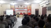 Anggota Polres Lampura Ikuti Penyuluhan Hukum dari Polda Lampung