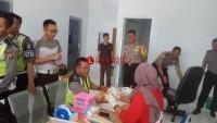 Anggota Polres Mesuji Gelar Donor Darah