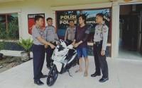 Anggota Polres Tulangbawang Tangkap Tersangka Pencuri Motor