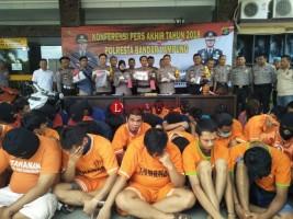 Angka Kriminalitas di Bandar Lampung Menurun Sepanjang 2018