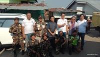 Ansor dan Insan Damai Bantu Korban Kebakaran Kaliawi