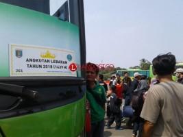 Arus Mudik di Lampung Hanya Dilayani 321 Angkutan Lebaran Berstiker