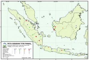 Awal Juli 2019, Terpantau Tiga Hotspot di Lampung