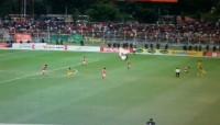 Babak Pertama, Badak Lampung FC Tahan Imbang Barito Putra 2-2