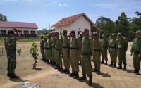 Babinsa Kodim 0426 Gelar Pembinaan Linmas Kampung Tri Karya