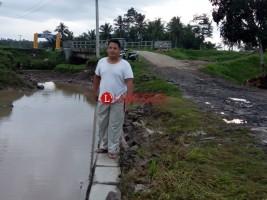 Banjir di Persawahan Sukaraja Kini Mulai Surut