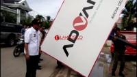 Bapenda Tulangbawang Sweeping Raklame di Pasar Unit II