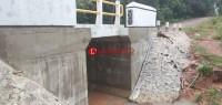 Baru Tiga Bulan Kelar,  Proyek Jembatan di Tubaba Sudah Rusak