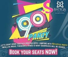 Batiqa Hotel Lampung Rayakan Tahun Baru Bertema Back to 90's