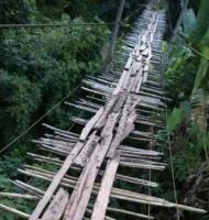 Begini Kondisi Jembatan Gantung Way Pulih di Way Kanan