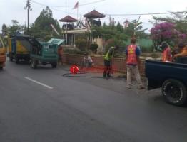 Bergelombang, Aspal di Jalinteng Kotabumi Mulai Diperbaiki