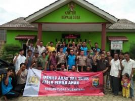 Bersama Masyarkat Desa Sabuk Empat, Polres Lampung Utara Gelar Cipkon dan Deklarasi