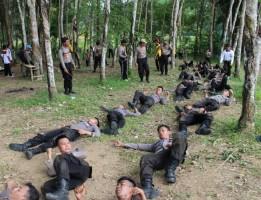 Bintara Remaja Polres Way Kanan Gelar Pembaretan
