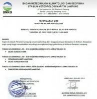 BMKG Maritim Keluarkan Peringatan Dini Gelombang Tinggi di Perairan Laut Lampung