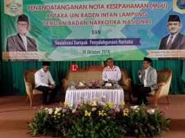 BNN Tetapkan UIN Raden Intan Lampung Kampus Bersih Narkoba