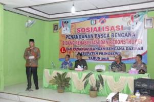 BPBD Pringsewu Sosialisasi Penanganan Pasca-Bencana