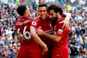 Bungkam Tottenham 2-1, Liverpool Catat Lima Kemenangan Beruntun