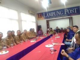 Bupati Lampung Utara Silaturahmi ke Lampung Post