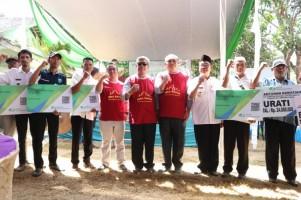 Bupati Lamteng Resmikan Desa Sadar BPJS Ketenagakerjaan Kesumajaya