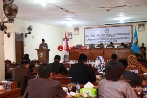 Bupati Pesibar Agus Istiqlal Sampaikan Nota Keuangan APBD Tahun 2018